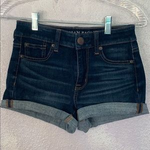 American eagle outfitters hi rise shortie jeans 0